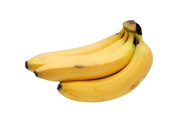 Sommige gele bananen op een witte achtergrond