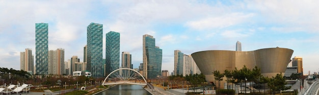 Songdo central park in incheon, zuid-korea