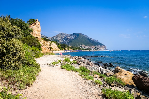 Sos dorroles strand in orosei golf, sardinië, italië