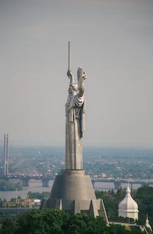 Sovjetmonumentenmoederland in het centrum van kiev