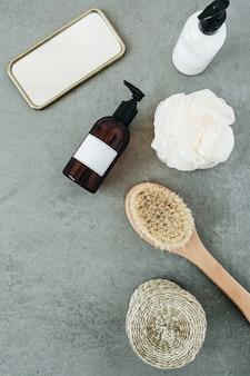 Spa collage. badaccessoires en cosmetica voor huidverzorging