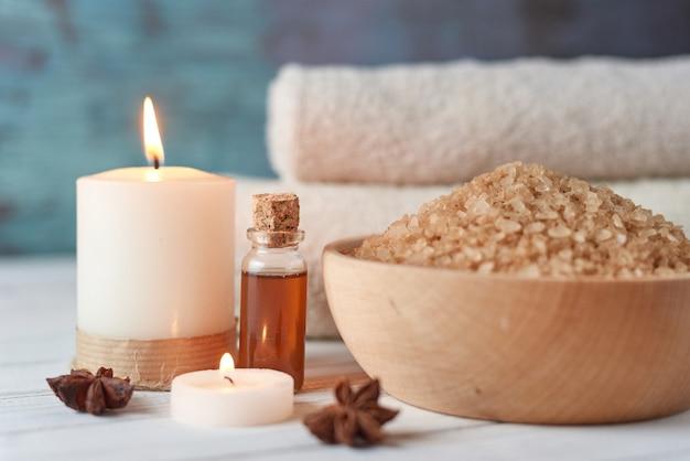 Spa en cosmetische samenstelling van de behandeling