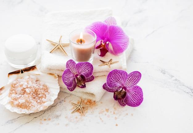 Spa-producten met orchideeën