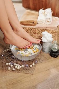 Spa salon voeten procedure