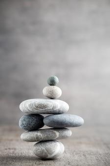 Spa stenen behandeling scène, zen-achtige concepten.