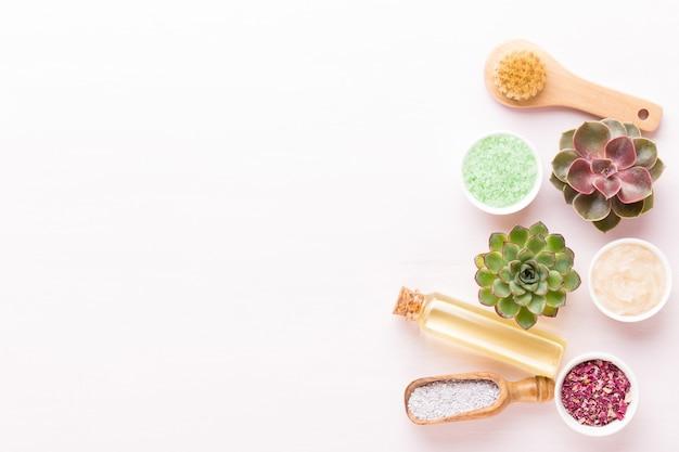 Spa wellnes wenskaart aromatherapie thema, handgemaakte bio cosmetica