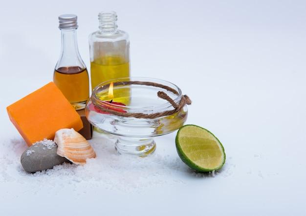 Spa zeep, honing en zout
