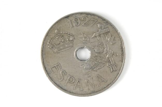 Spaanse munt van 1927 twintig cent
