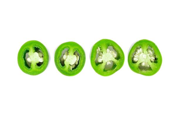 Spaanse peperplak op wit