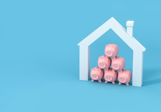 Spaarvarken en huis