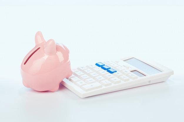 Spaarvarken met calculator