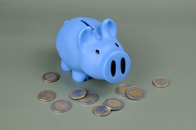 Spaarvarken met de euro
