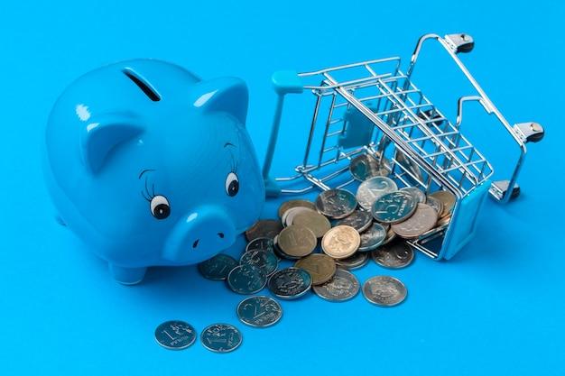 Spaarvarken spaar munt
