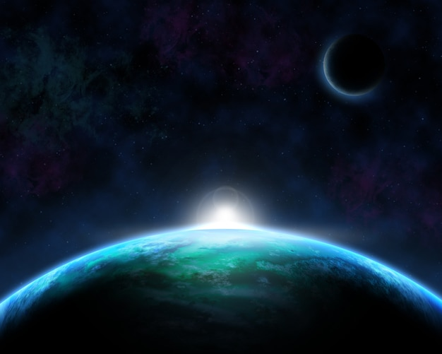Space scene achtergrond