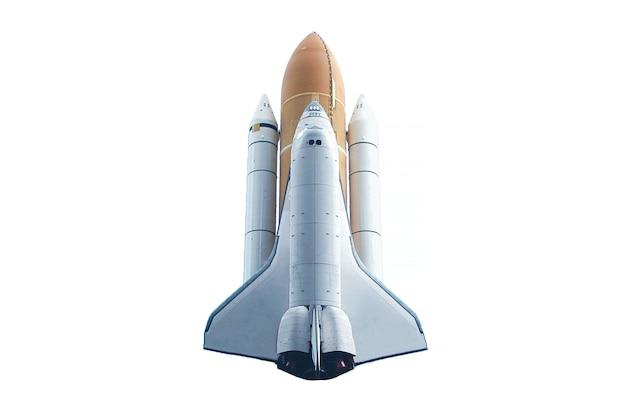 Spaceshuttle geïsoleerd op een witte achtergrond elementen van deze afbeelding zijn geleverd door nasa