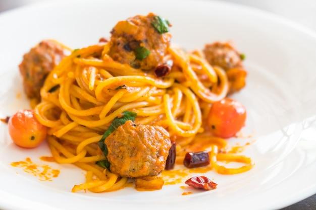 Spaghetti gehaktballen