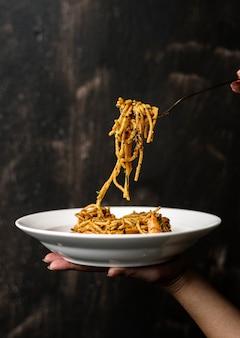 Spaghetti italiaans eten