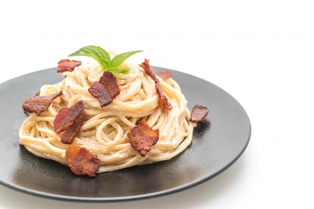 Spaghetti roomkaas met spek