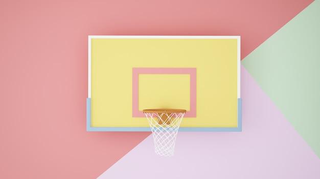 Spandex achtergrondkunstwerk pastelkleur achtergrond 3d-rendering
