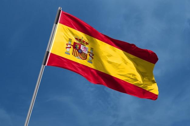 Spanje vlag zwaaien