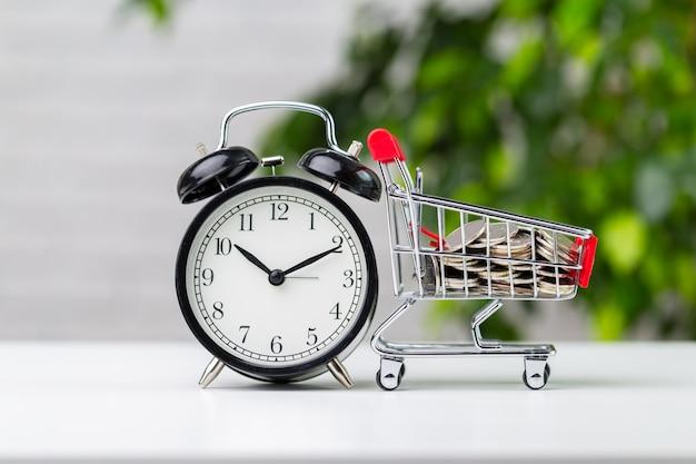 Sparen en winkelen concept