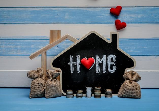 Sparen van onroerend goed, woningkredieten. woningbouw woninghypotheekplan strategie.
