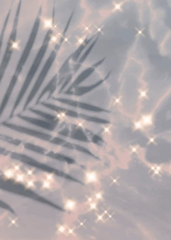 Sparkle-effect tropische bladachtergrond
