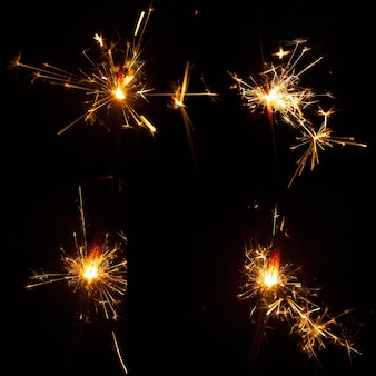 Sparkling fakkels set