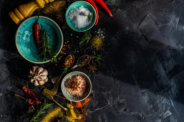 Specerijen als een kookconcept