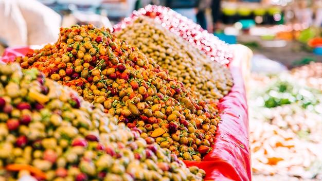 Specerijen op oriëntaalse markt