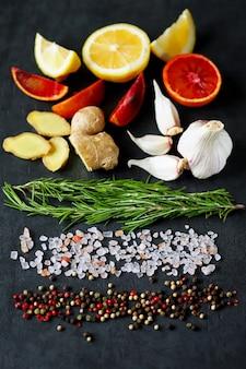 Specerijen voor vis of vlees.