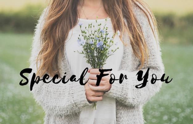 Speciaal voor jou flower phrase words