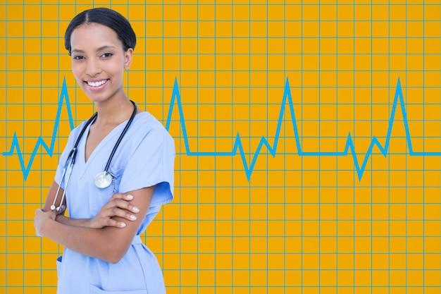 Specialist wetenschap analyseren ziekenhuis witte achtergrond