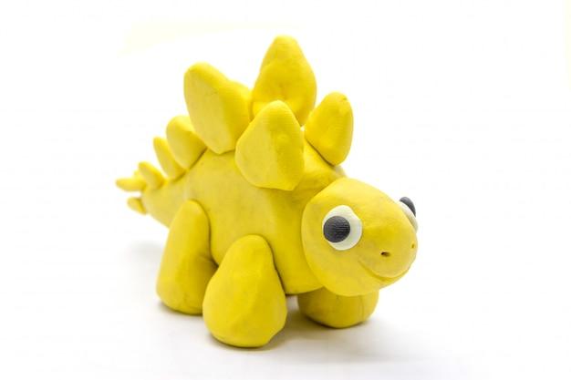 Speel het deeg stegosaurus op witte achtergrond