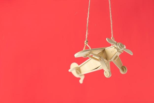Speelgoed vliegtuig close-up
