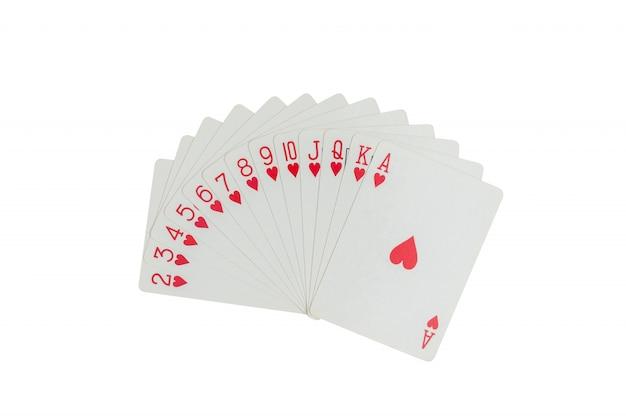 Speelkaarten geïsoleerd