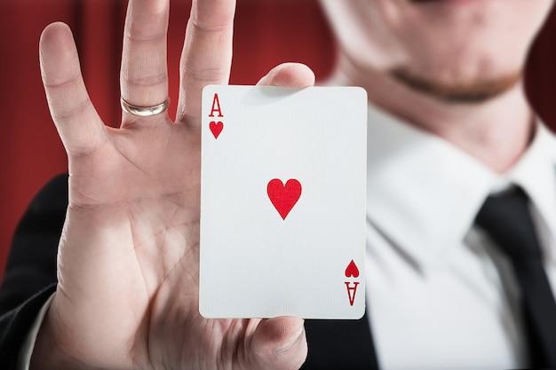 Speelkaarten geluk. focus.