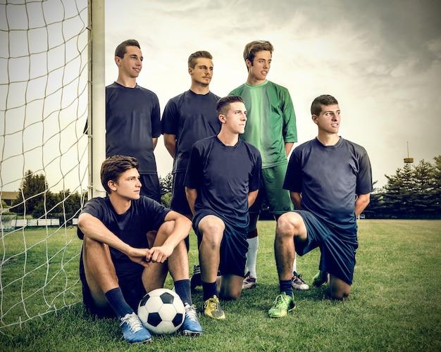 Spelers van het voetbalteam