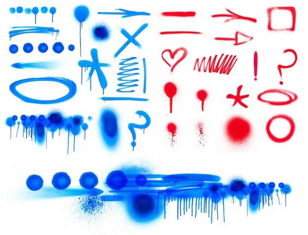 Spetterde penseel inkt grafische