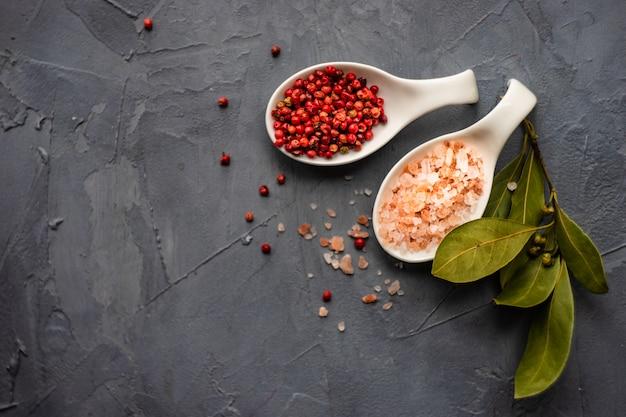 Spice concept met zout en peper