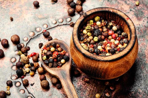 Spice-peper erwten of peper