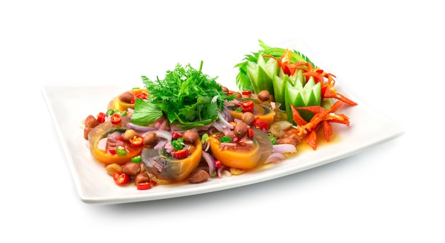 Spicy preserves eggs (century eggs) salade