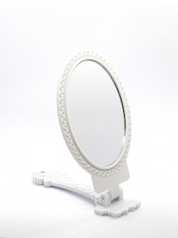 Spiegel geïsoleerd op een witte achtergrond Premium Foto