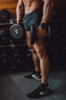 Spier sexy verlichting fitness lichaam