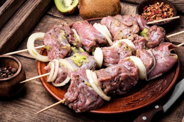 Spiesjes van shish kebab