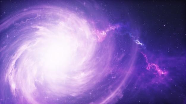 Spiraalstelsel, 3d illustratie van deep space-object.