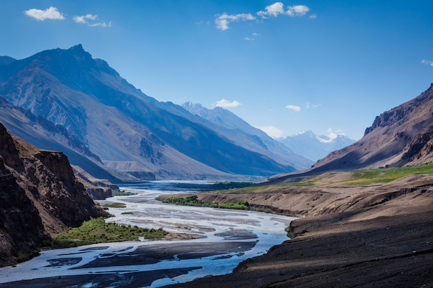 Spiti rivier in de himalaya