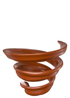 Splash spiraal van chocolade.