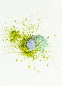 Splash van pigmenten