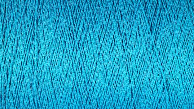 Spoel van blauwe draad macro achtergrondtextuur
